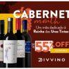 Divvino - Cabernet Month - vinhos Cabernet com cupom de descontos grátis de até 55%