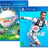 Kit Game Everybody's Golf + Game FIFA 19 - PS4 com 60% de cashback no Submarino