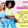 Marisa - Semana da Cliente - tudo com cupom de descontos grátis de até 70%