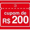 Americanas - cupom de descontos grátis de R$ 200 nas compras acima de R$ 1950