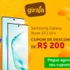 Lançamento Samsung Note 10 10+ com cupom de descontos grátis de R$ 200 mais Frete Grátis Brasil no Girafa