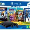 Saraiva - leve e ganhe brinde - Compre Console PS4 Bundle Megapack 8 Family e ganhe Controle Dual Shock 4 branco glacial