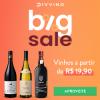 Divvino - Big Sale - vinhos a partir de R$ 19,90 para sócios do Clube D