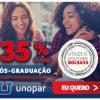 Unopar - cupom de descontos grátis de 35% nos cursos de Pós-graduação EAD de seis a dez meses de duração