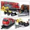 Brinquedo Estação de Trem 1078 peças com cupom de descontos grátis no AliExpress