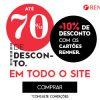Anúncio Renner - até 70% de desconto + 10% de desconto no site