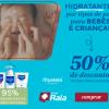DrogaRaia - Hidratantes por tipos de pele para bebês e crianças com 50% de desconto na segunda unidade