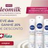 Lançamento Nivea Deomilk leve dois e ganhe 25% de desconto na DrogaRaia