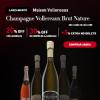 Chez France - Lançamento Champagne Vollereaux Brutt Natturre com 30% de desconto + 5% de desconto extra na compra de seis ou mais garrafas