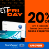 Best Friday - 20% de desconto duas caixas de lentes de contato Alcon e CooperVision na GrandVision