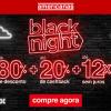 Americanas - Black Night - todo o site com cupom de descontos grátis de até 80% + até 20% de cashback +até 12X sem juros