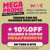 Megapromo - mais 10% de desconto nas compras acima de R$ 199,00 no Wine