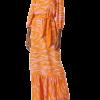 Vestido Longo Godê Manga Bufante laranja em liquidação na Hering
