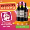 Desconto Mínimo a partir de 40% de desconto no Wine