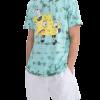 Camiseta Estampa Bob Esponja Tie Dye Verde com cupom de descontos grátis nas Lojas Renner