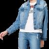 Jaqueta Feminina Em Jeans De Algodão Com Bolso azul em oferta da loja Hering
