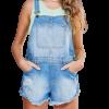 Macaquinho Jeans com Rasgos com cupom de desconto grátis na YouCom