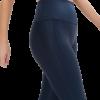 Calça Legging Esportiva Texturizada com Brilho e Cós Alto Azul Escuro em oferta das lojas Renner