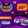 Player 2 presentes que dão match com até 50% de desconto no KaBuM!