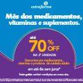 Mês dos Medicamentos, Vitaminas e Suplementos até 70% de desconto na Extrafarma