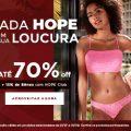 Até 70% de desconto + 15% de desconto extra do Hope Club na Hope