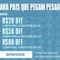 Para Pais que Pegam Pesado R$ 80,00 de desconto nas compras acima de R$ 399,00 na Under Armour