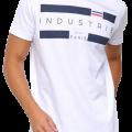 Camiseta Industrie Básica Paris Masculina branca em oferta da loja Netshoes