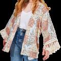 Kimono Patchwork Bandana com Franjas em promoção na YouCom