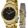 Kit Relógio Feminino Lince LRG4668L-KZ97P1KX Analógico + Brinde Dourado com 15% de desconto nas Lojas Renner