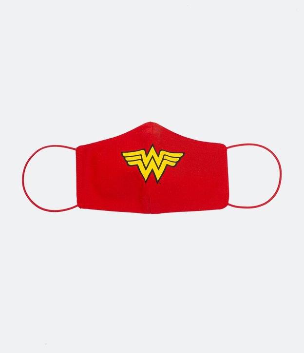 Máscara de Tecido Feminina Estampa Mulher Maravilha | Justice League | Vermelho | U (Entregue por Lojas Renner)