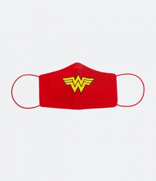 Máscara de Tecido Feminina Estampa Mulher Maravilha | Justice League | Vermelho | U