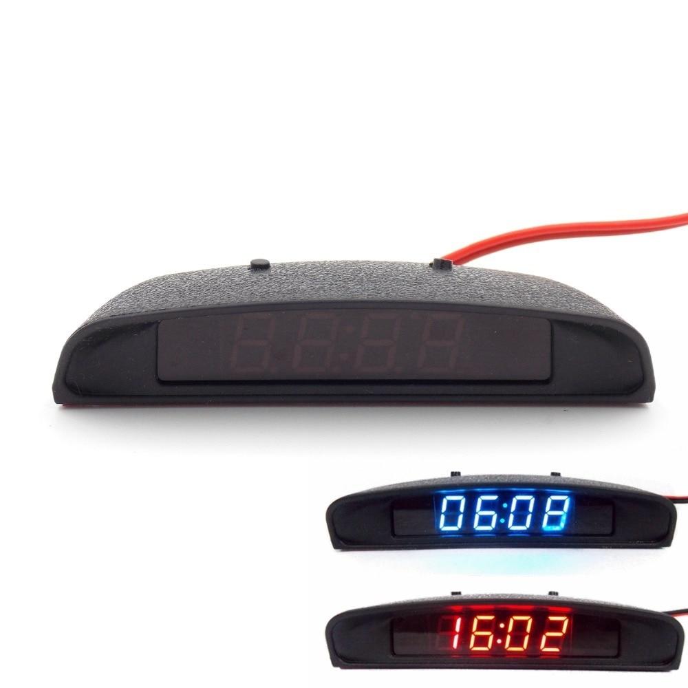 12 v original guarnição interior do carro aparência 3 em 1 termômetro relógio de carro e monitor de tensão (sete tipos de modo de exibição) (Entregue por )