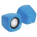 Mini Caixa de Som PcYes Cross 6W RMS USB Azul Tamanho Compacto, Design Inovador, Cabo Controlador de Volume