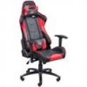 Cadeira Gamer PcYes Mad Racer V8 MADV8 Vermelho Estofamento de alta qualidade para as costas, braços e assento