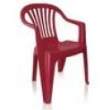 Cadeira Poltrona de Plástico Vila Boa Vista Vinho Antares Antares Poltrona