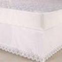 Saia Colchobox P / Cama Casal Microfibra Ultrassônica Lisa – Branco