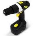 Furadeira Parafusadeira Mandril Hammer 10mm Sem Fio Bateria Recarregável Preta e Amarela PF96 GYPF96