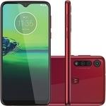"""Smartphone Moto G8 Play 32GB Dual Chip Android Tela 6.2"""" 4G Wi-Fi Câmera 13MP + 8MP + 2MP – Vermelho Magenta (Entregue por Americanas)"""