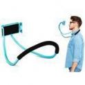 Suporte Celular Articulado De Pescoco Selfie Cama Mesa Azul
