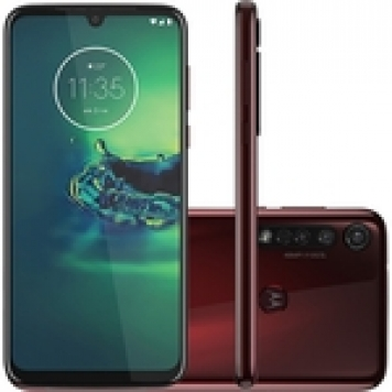 "Moto G8 Plus 64GB Dual Chip Android 6.3"" Qualcomm Snapdragon 665 4G Câmera 48MP + 5MP + 16MP - Cereja"