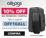 Primeira Compra com 10% de desconto na Allbags