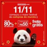 11:11 – O maior Festival de Vendas do Mundo, até 80% de desconto, cupons de até R$ 50,00 e Frete Grátis nas Americanas