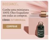Ganhe uma miniatura 100% Óleo Esqualano em todas as compras na Biossance