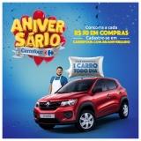 Aniversário: a cada R$ 50,00 em compras, você concorre a um carro todo dia no Carrefour