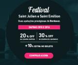 Festival Bordeaux Saint Julien e Saint Emilion – 30% de desconto em seis garrafas + 10% extra no boleto na Chez France
