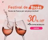 Festival de Rosés Franceses com 30% de desconto em seis garrafas + 5% extra no boleto na Chez France