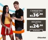 Camisetas a partir de R$ 36,90 na Chico Rei