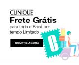 Frete Grátis Brasil em todas as compras na Clinique