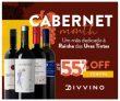 Cabernet Month: até 55% de desconto em vinhos de uvas Cabernet no Divvino
