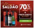 Mega Saldão: até 70% de desconto em vinhos mais Frete Grátis Sul e Sudeste no Divvino